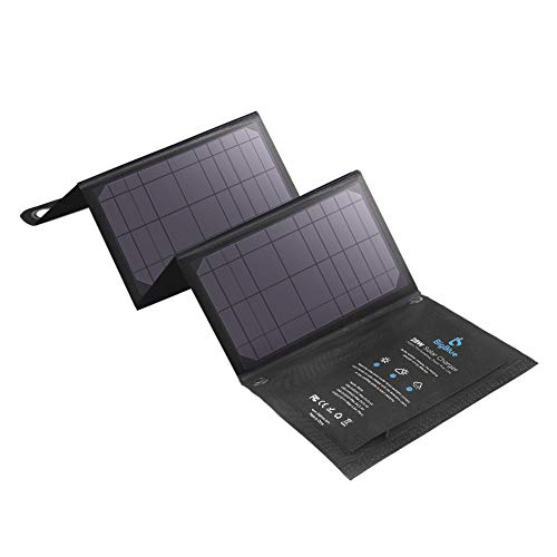 BigBlue 28W Cargador Panel Solar (5V/4.8A Total Máximo) Impermeable Placa Solar Plegable con 3 USB Puertos para Móviles, Tablets, GoPro y Otros Dispositivos Digitales
