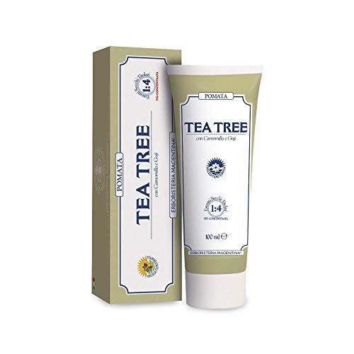 ERBORISTERIA MAGENTINA - POMATA TEA TREE DA 100 ML pomata multiuso ad ampio spettro utile per alleviare i fastidi della pelle localizzati.