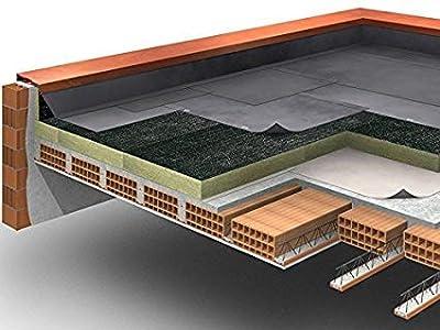 Futurazeta – Lana de roca Panel de 50 mm de grosor para acoger la funda bituminosa para aislamiento e impermeabilización de cubiertas y terrazas (1 palé de 24 m²)