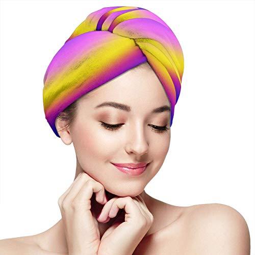 GYTHJ Toalla para el cabello Envoltura Turbante Microfibra Secado rápido Sombrero para...
