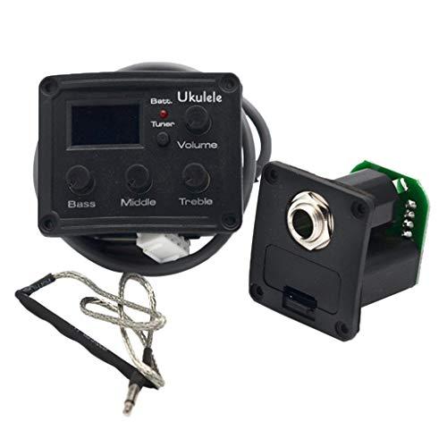 Homyl Equalizer-Tuner-System Mit 3 Band-EQ Für Ukulele-Piezo-Tonabnehmer Mit LCD-Anzeige