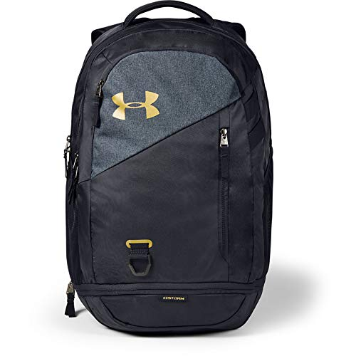 Under Armour Rucksack Hustle 4.0 Rucksack, Black / Metallic Gold Luster (007), OSFA, 1342651-007