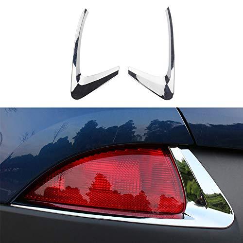 Yueng ABS Chrome Auto Heckleuchte Nebelscheinwerfer Light Cover Trim Silber 2er-Pack