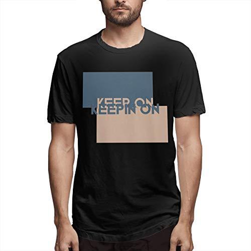 Besondere Keep On Keepin On Go On Do It Herren Kurzarm T-Shirt Keep It Simple T-Shirt Herren DNCE Kuchen von The Ocean Lyrics T_Shirts Für Männer Schwarz S.