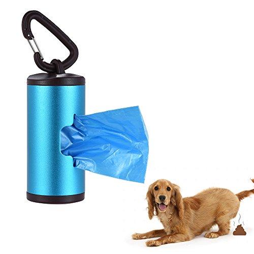 Decdeal Kotbeutelspender Hunde Beutelspender aus Aluminiumlegierung mit 15 Hundekotbeutel