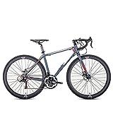 Clouds Bicicleta de Montaña 700C Ultraligera, Bicicleta de Montaña De Carreras para Hombres De 21 Velocidades, Bicicletas De Carreras con Freno De Disco Doble, Unisex para Amantes del Ciclismo