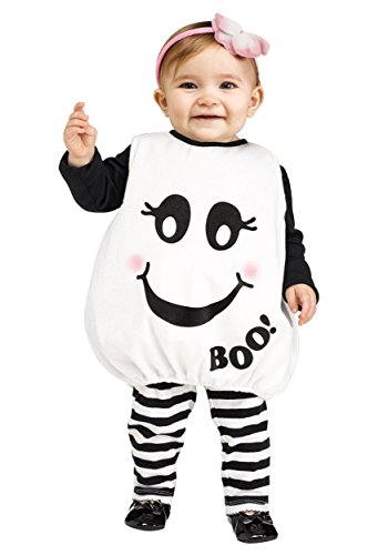 Fun World Toddler Baby Boo! Ghost Costume Toddler Black,White