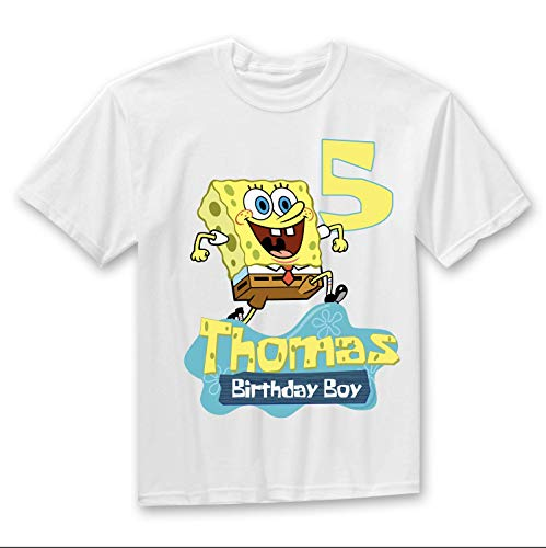 Personalize Spongebob Birthday Shirt