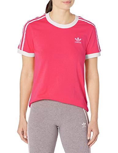 adidas Originals - Camiseta de manga corta para mujer - rosa