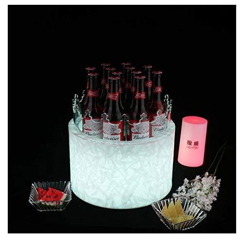 MAGFYLY Barril de Vino de Madera LED Cubo De Hielo Original Bar Creativo Colorido Iluminado Cubo De Hielo Pastel Cerveza Botella Champán Vino Cerveza Barril Cubo De Hielo KTV