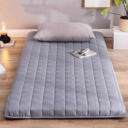 FF Tatami sleeping mat, Soft Futon folding mattress, thick Tufted padded dormitory for students dormitory gray 150x190 cm (59x75 inches)