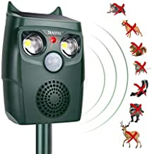 Diaotec Ultrasonic Animal Repellent Cat Repeller Dog Deterrent Squirrel Driver Solar Powered Waterproof Outdoor Green