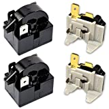HQRP 2-Pack Compressor 4.7 Ohm 3-Pin PTC Starter/Start Relay and Overload Kit compatible with Mini Fridges, Compact Refrigerators, Beverage & Wine/Beer coolers, Deep Freezers, Beer/Wine Refrigerators