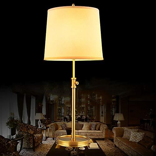 YANG1MN Lámpara de noche de altura de elevación, lámpara de cobre, lámpara de estudio europea, 32 cm x 32 cm x 65 cm