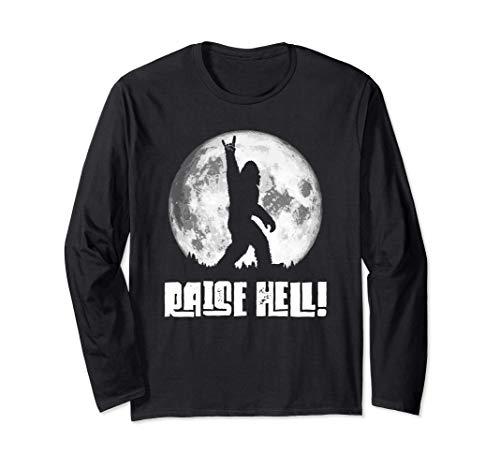 Raise Hell! Rock n' Roll Bigfoot Night Stroll & Moon 長袖Tシャツ