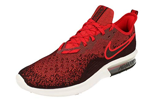 Nike Air Max Sequent 4 Mens Running Trainers AO4485 Sneakers Shoes (UK 11 US 12 EU 46, Black University red 006)