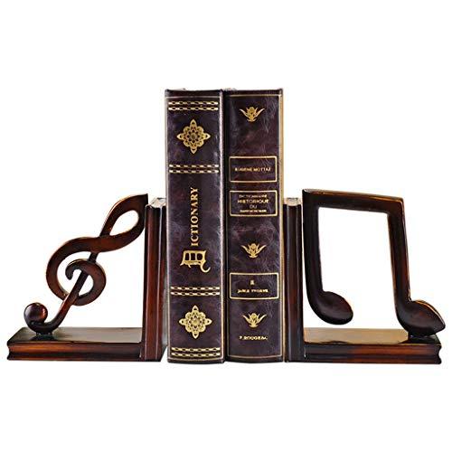 FEANG Buchstütze Musical Note Bookends Dekorativer Harz Buchend Set Buch endet für Regale Dekorative Buchend...