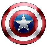 Captain America Shield 47 cm Captain America Metal Shield 1: 1 Edizione cinematografica Puntelli Superhero Bar Negozio Decorazione Modello da Parete
