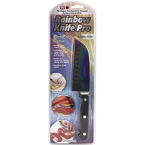 Tekno Products As Seen On Tv Rainbow Knife Pro Santoku-