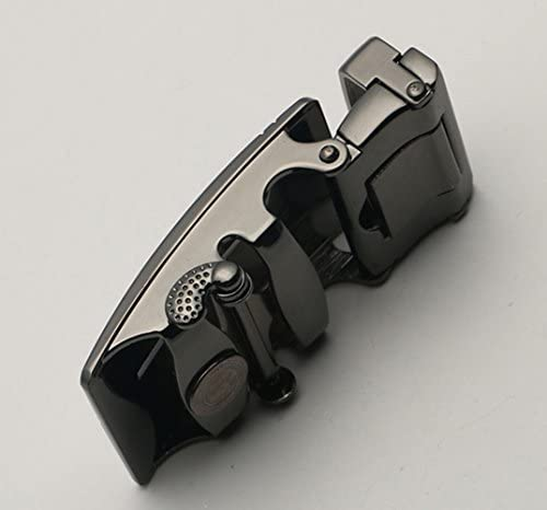 Business Herren Retro Ledergürtel Ratsche Automatic Alloy Comfort Click Buckle