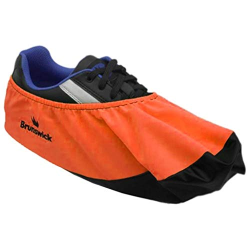 Brunswick Bowling Products Shoe Shield Shoe Covers- Neon L/XL, Orange, Large/X-Large