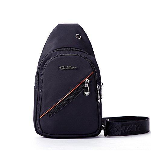 Loisirs Sac de Poitrine Buste en nylon de voyage de voyage de souffle de sac de portable de Sling bag, 762 black