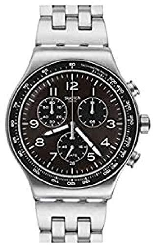 Swatch Reloj Analógico para Hombre de Cuarzo Suizo con Correa en Acero Inoxidable YVS465G
