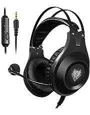 ELEGIANT PS4 Gaming headset, gaming hoofdtelefoon, noise cancelling hoofdtelefoon, beugelhoofdtelefoon met pure geluidskwaliteit, microfoon, 3,5 mm jack voor PS4 Pro/PS4 Xbox One PC laptop tablet Mac