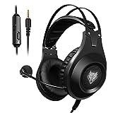 ELEGIANT Gaming Headset ps4 Gaming Kopfhörer Noise Cancelling Headphones Bügelkopfhörer mit Reiner Tonqualität Mikrofon 3,5mm Klinke für PS4 Pro/PS4 Xbox One PC Laptop Tablet Mac