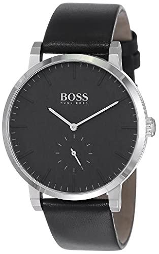 Hugo Boss Homme Analogique Quartz Montre avec Bracelet en Cuir 1513500