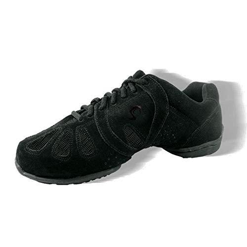 Sansha Dynamo Dance Sneaker,Black/Black,10 Sansha (8.5 M US Women's)