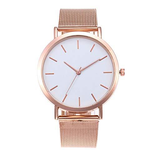yuge Señoras reloj conjunto 3 piezas lujo Rhinestone señoras reloj malla correa reloj oro rosa pulsera 1watch