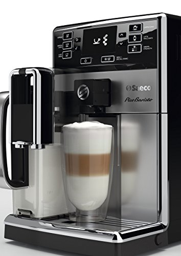 Saeco picobaristo super automatic espresso machine, 1. 8 l, stainless steel, hd8927/47 22 easily select one of 15 delicious drinks, or customize it to your taste with coffee equalizer and save it to one of 6 user profile our patented aquaclean water filter eliminates the need to descale for up to 5,000 cups get superior taste for 20,000 cups with our durable ceramic grinders