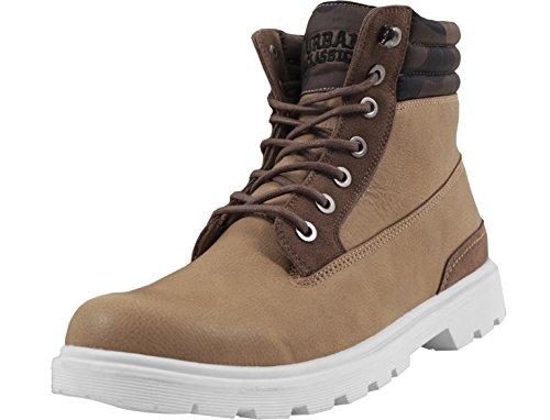 Urban Classics Herren Winter Chukka Boots, Braun (Beige/Woodcamo), 39 EU