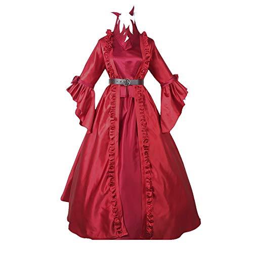 Updayday Mary Bloody Queen Vestidos de Michiko Game Identity V Disfraz de Cosplay Vestido de Traje Medieval Largo hasta el Suelo para Halloween Fiesta de Carnaval