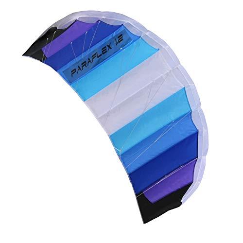 Wolkenstürmer Paraflex Basic 1.2 Lenkmatte, Blau - Flugfertiger 2-Leiner Kite für Anfänger