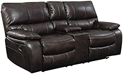 Swell Amazon Com Bowery Hill Microfiber Motion Reclining Loveseat Andrewgaddart Wooden Chair Designs For Living Room Andrewgaddartcom