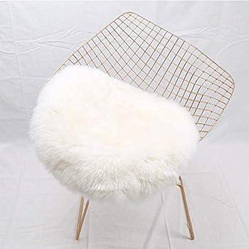 Yj.gwl Super Soft Shaggy Faux Fur Sheepskin Chair Cover Area Rugs