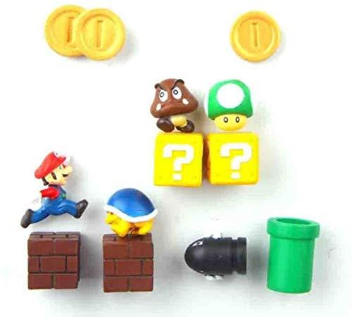 LMPENG 8/12/17/19/22/64pcs Super Mario Bros. Imanes de nevera 3D para mensaje de refrigerador, decoración del hogar, juguetes para niños, regalo de cumpleaños, 17 combinaciones - 12c combinaciones