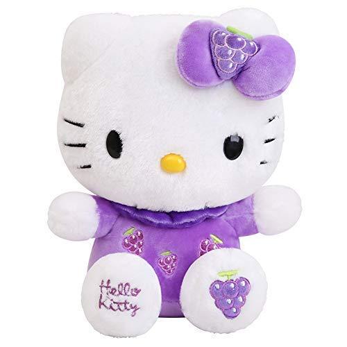 JIAL Nette Hello Kitty Plüschtiere Kuscheltier Katzenpuppen für Kinder Kinder Weihnachten Geburtstag GIF 30cm Pink Chongxiang (Color : Grape, Size : 40cm)