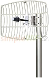 Antenna World G5724 24 Dbi Parabolic Grid Directional Antenna, 802.11ac, 5.72-5.85ghz