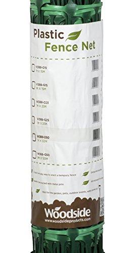 Woodside – Kunststoff-Hühnerzaun – Maschengewebe – Grün – 1 x 25 m (H x L) - 3