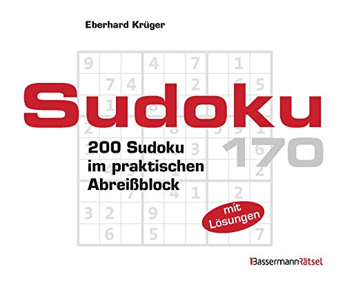 Sudoku Block 170: 200 Sudoku im praktischen Abreißblock
