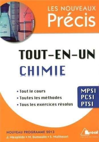 Tout-en-un chimie MPSI-PCSI-PTSI