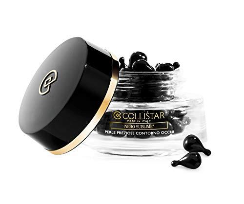 Collsitar Nero Sublime Perle Preziose Contorno Occhi, Perle monodose contenenti un siero trasparente setoso, Combattono gonfiori, borse e occhiaie, per tutti i tipi di pelle, 40 perle