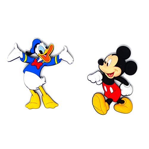 Mickey Mouse and Donald Duck Novelty Kitchen Fridge Refrigerator Magnet Soft PVC (2 Pack)