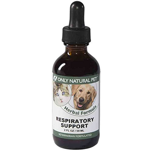 Only Natural Pet Respiratory Support Immune Booster for Dogs and Cats - Herbal Immune System Booster Supplement Formula - 2 oz Bottle