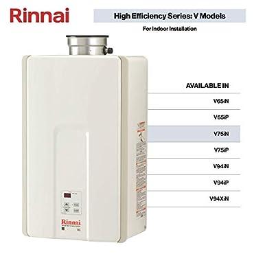 Rinnai V75IN HE 180,000 BTU Tankless Hot Water Heater