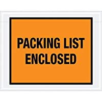 Top Pack Supply Tape LogicPacking List Enclosed Envelopes 7 x 5 1/2 Orange (Pack of 1000) [並行輸入品]