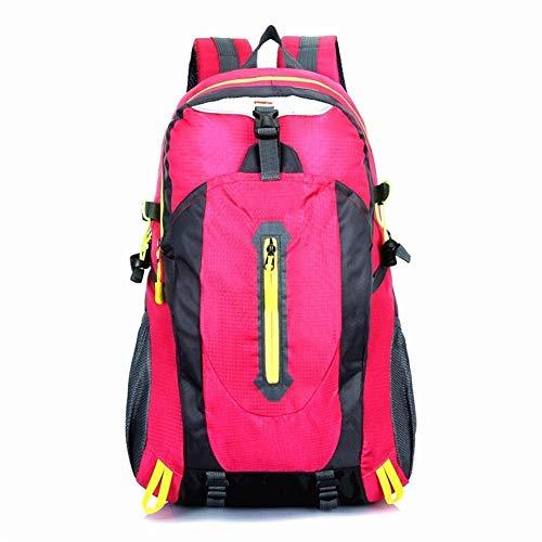 LLTT Escalade Voyage Sacs à Dos Hommes Sacs de Voyage Waterproof 40L Randonnée Sacs à Dos Camping en Plein air Sac à Dos Sport Sac à Dos Hommes (Color : Pink)